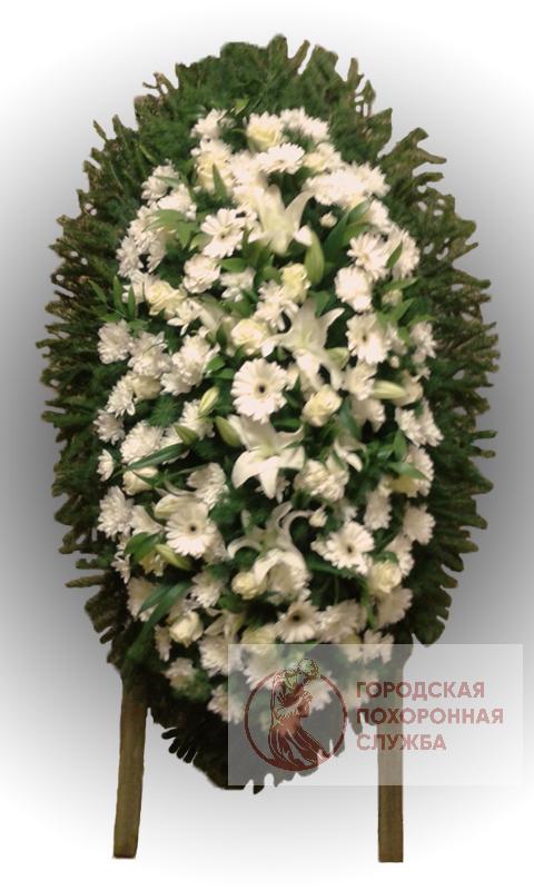 Траурный венок из живых цветов №75