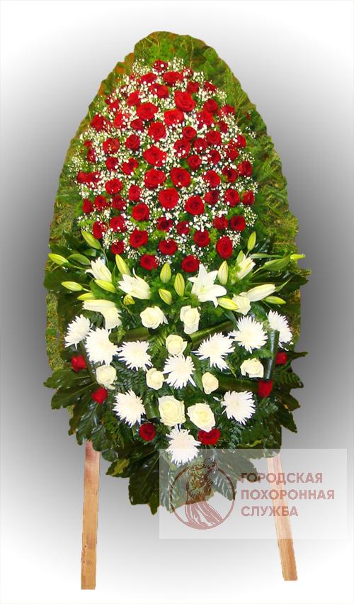 Траурный венок из живых цветов №76