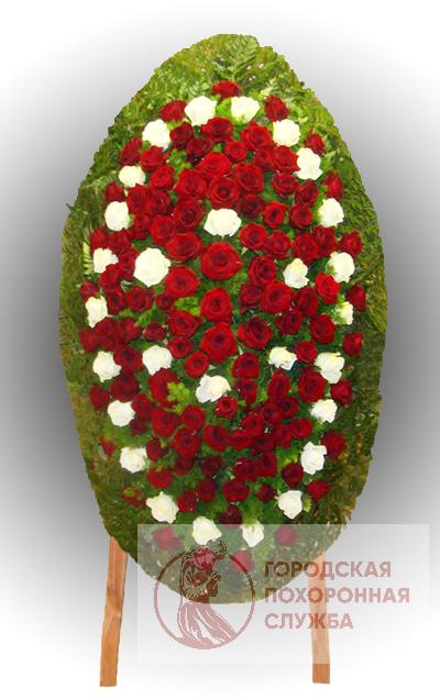 Траурный венок из живых цветов №77
