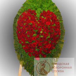 Фото 100 - Траурный венок из живых цветов ВЖЦ-79.