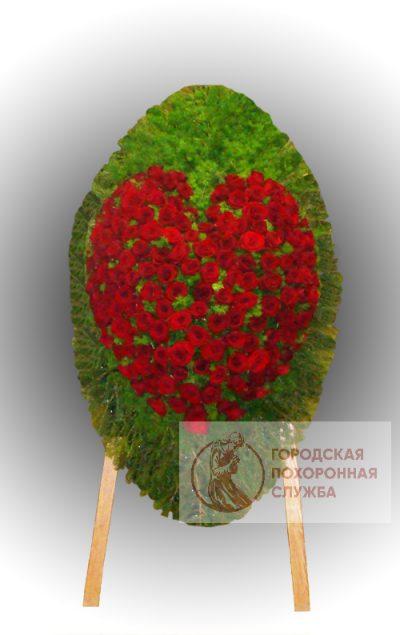Фото 1 - Траурный венок из живых цветов ВЖЦ-79.