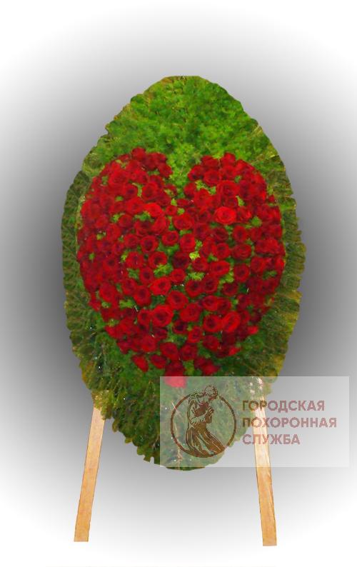 Траурный венок из живых цветов №79