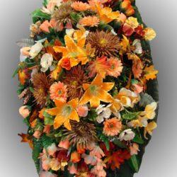 Фото 11 - Элитный венок из искусственных цветов №7.