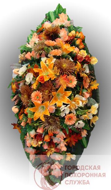 Элитный венок из искусственных цветов заказной №8