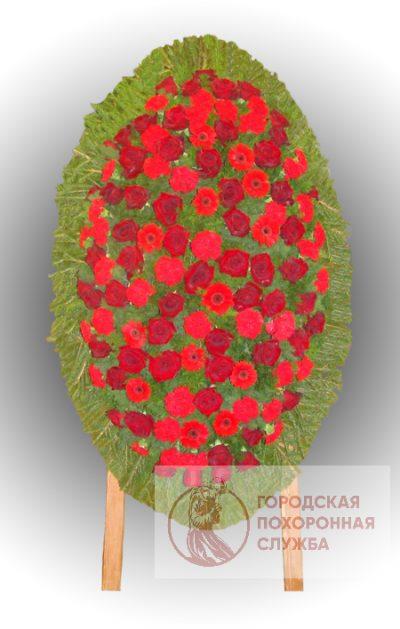 Фото 1 - Траурный венок из живых цветов ВЖЦ-80.