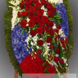 Фото 81 - Траурный венок из живых цветов ВЖЦ-81.