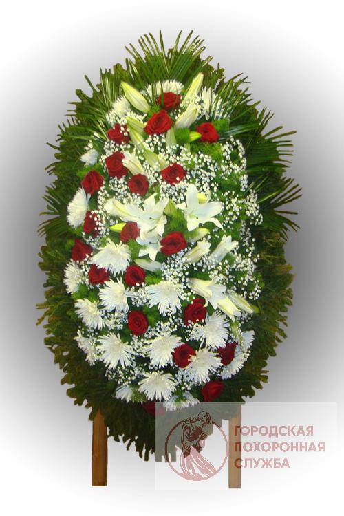 Траурный венок из живых цветов №82
