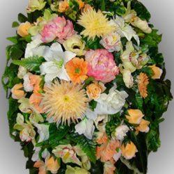 Фото 2 - Элитный венок из искусственных цветов №8.