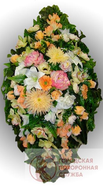 Элитный венок из искусственных цветов заказной №9