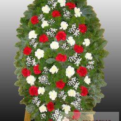 Фото 13 - Элитный ритуальный венок из живых цветов №9.