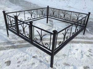 Ограда на могилу 4