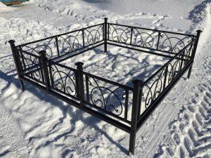 Ограда на могилу 5