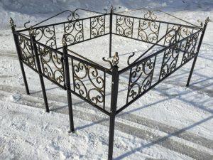 Ограда на могилу 11