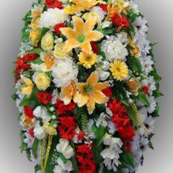 Элитные ритуальные венки из искусственных цветов