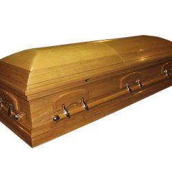 Фото 23 - Элитный гроб VICTORIA (светлый орех).