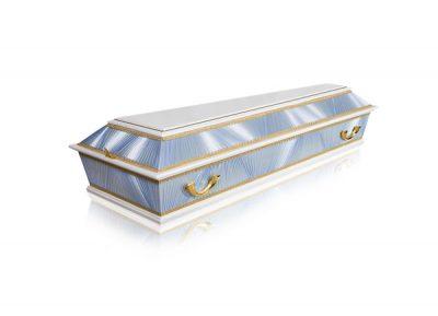 Фото 1 - Комбинированный гроб ФК-4Б (голубой).