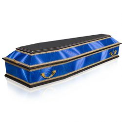 Фото 22 - Комбинированный гроб ФК-6 (синий).