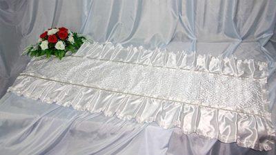 Фото 1 - Похоронное покрывало комбинированное Ангел ПК-03-4.