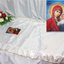 Фото 2 - Похоронное покрывало шелк Икона ПК-01-3.