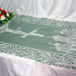 Фото 4 - Похоронное покрывало тюль 110 ПР-015.