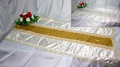 Фото 1 - Похоронное покрывало комбинированное Нежность ПК-03-2.