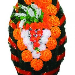 Фото 6 - Элитный венок из живых цветов сирень №7.
