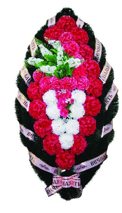 Фото 1 - Элитный венок из живых цветов сирень №2.