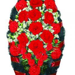 Фото 12 - Элитный венок из живых цветов бархат.