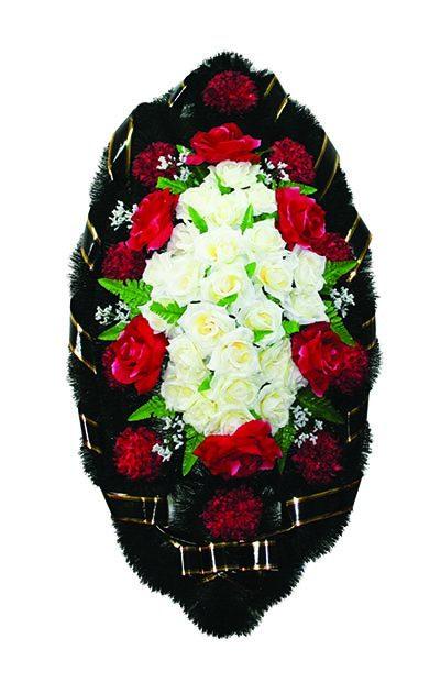 Фото 1 - Элитный венок из живых цветов букетный.