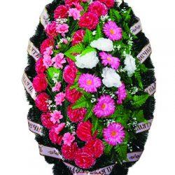 Фото 16 - Элитный ритуальный венок из живых цветов №23.