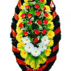 Фото 24 - Элитный венок из искусственных цветов №3.