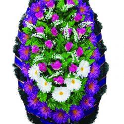 Фото 19 - Элитный венок из искусственных цветов №2.