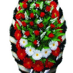 Фото 20 - Элитный венок из искусственных цветов №1.