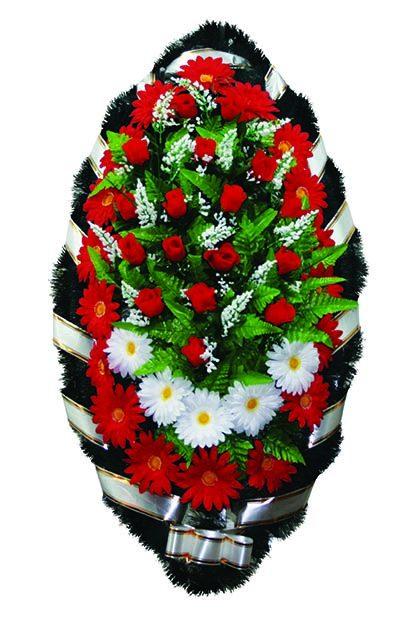 Фото 1 - Элитный венок из искусственных цветов №1.