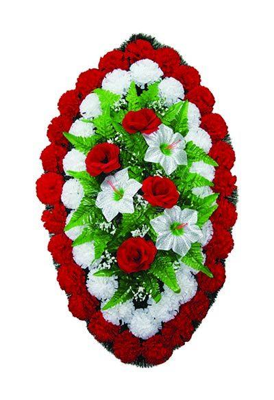 Фото 1 - Элитный венок из искусственных цветов №5.