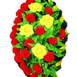 Фото 32 - Элитный венок из искусственных цветов №6.