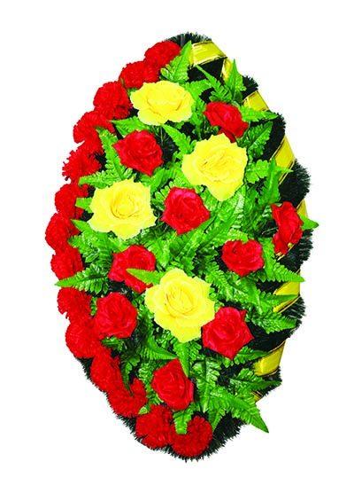 Фото 1 - Элитный венок из искусственных цветов №6.