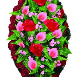 Фото 2 - Элитный венок из искусственных цветов №4.
