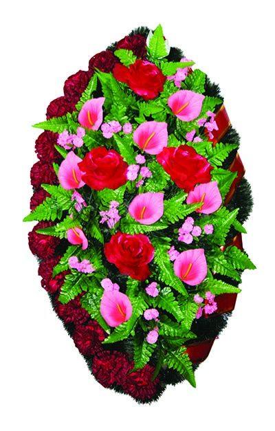 Фото 1 - Элитный венок из искусственных цветов №4.