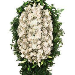 Траурные венки из живых цветов
