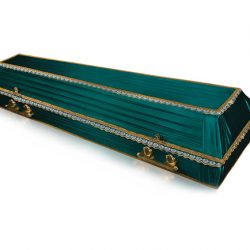 Фото 43 - Гроб обитый тканью Траур.