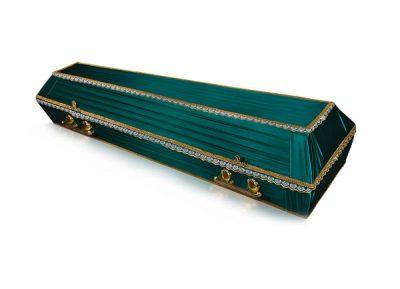 Фото 1 - Гроб обитый тканью Траур.