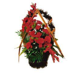 Фото 14 - Ритуальная корзина из искусственных цветов ИК-03.