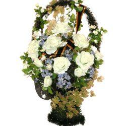 Фото 11 - Ритуальная корзина из искусственных цветов ИК-05.