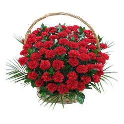 Фото 12 - Ритуальные корзина из живых цветов ЖК-01.