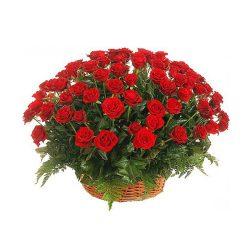 Фото 27 - Ритуальные корзина из живых цветов ЖК-05.