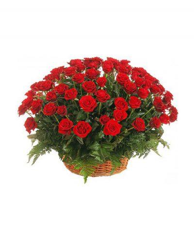 Фото 1 - Ритуальные корзина из живых цветов ЖК-05.