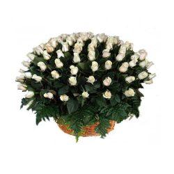 Фото 2 - Ритуальные корзина из живых цветов ЖК-06.