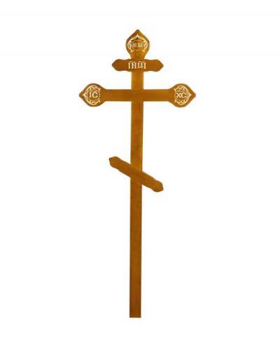 Фото 1 - Крест деревянный КДС-15 (фигурный дуб).