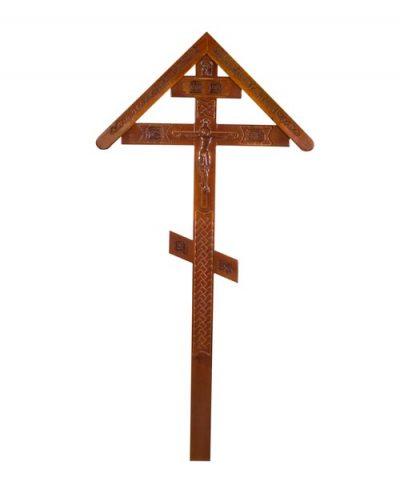 Фото 1 - Крест деревянный КДЭ-03К.